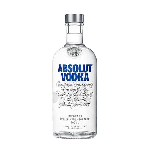 Sélection d'alcools en promotion - Ex : Absolut Vodka - 70cl (Frontaliers Luxembourg)