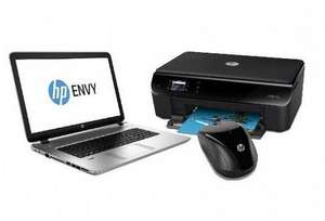 "PC portable 17"" HP Envy 17-K208NF ( i5-5200U, 4 Go RAM, 1 To) + Imprimante All-in-one HP + Souris sans fil HP (via ODR 150€)"