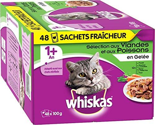 Lot de 48 sachets fraîcheur Whiskas