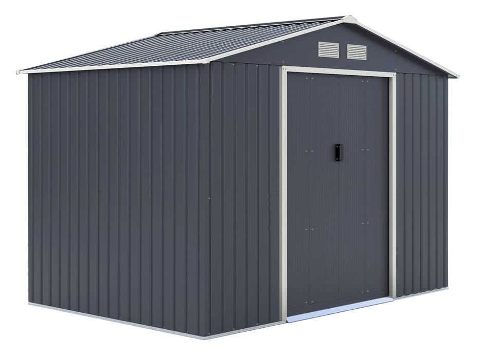 Abris de jardin métal + Kit d'ancrage - 5.29m2