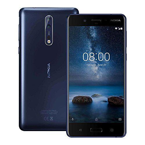 """Smartphone 5.5"""" Nokia 8 - 6 Go de RAM, 128 Go (Version Globale - B20, B28)"""