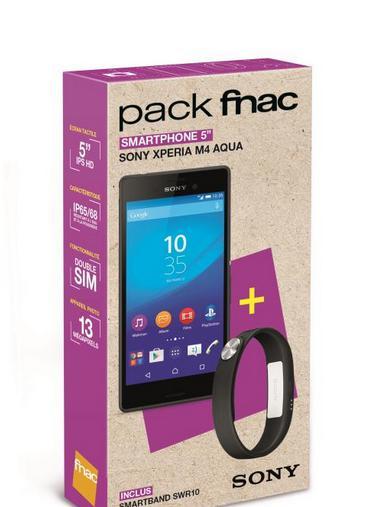 """Smartphone 5"""" Sony Xperia M4 Aqua 16 Go Noir + Smartband SWR10"""