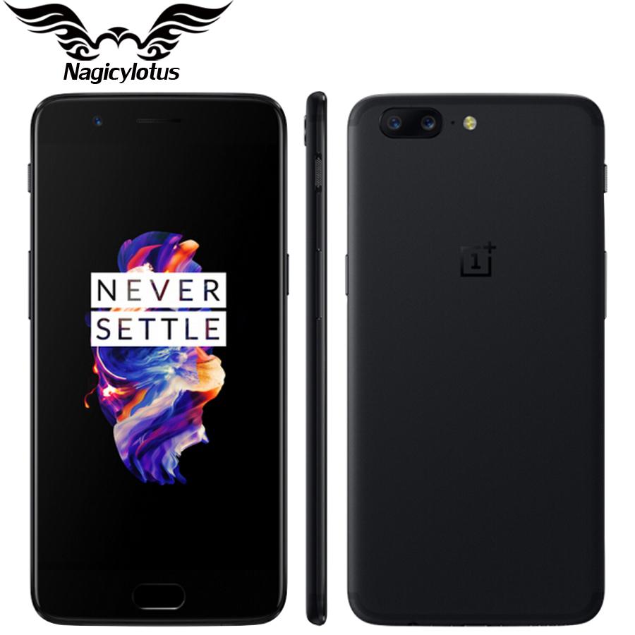 "Smartphone 5.5"" OnePlus 5 - full HD, SnapDragon 835, 6 Go de RAM, 64 Go, 4G (B20/B28)"