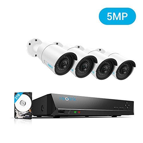 Système de sécurité sur IP Reolink RLK8-410B4 - 4 caméras (5 Mpix) + disque dur 2 To (vendeur tiers)