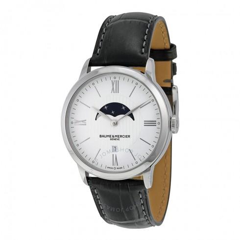 Montre Baume & Mercier Classima - Blanc/Phase de lune 10219 (Frais d'importation et de livraison incluses - JomaShop)