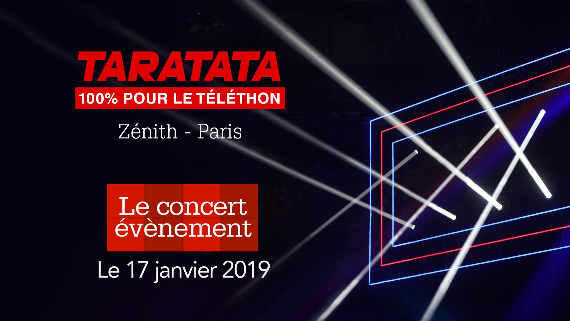 Concert événement Taratata 100% pour le Téléthon