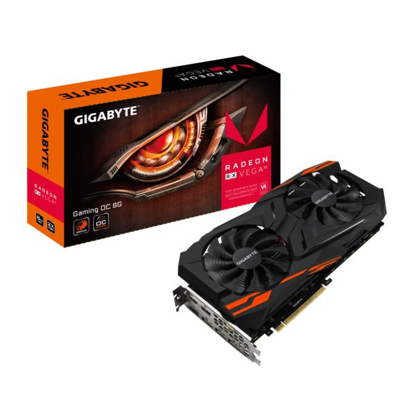 Carte graphique Gigabyte Radeon RX Vega 56 Gaming OC 8G + 3 Jeux