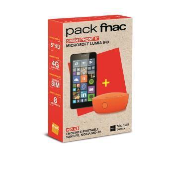 Pack Microsoft Smartphone Lumia 640 Double SIM 8 Go + Enceinte Nokia MD-12