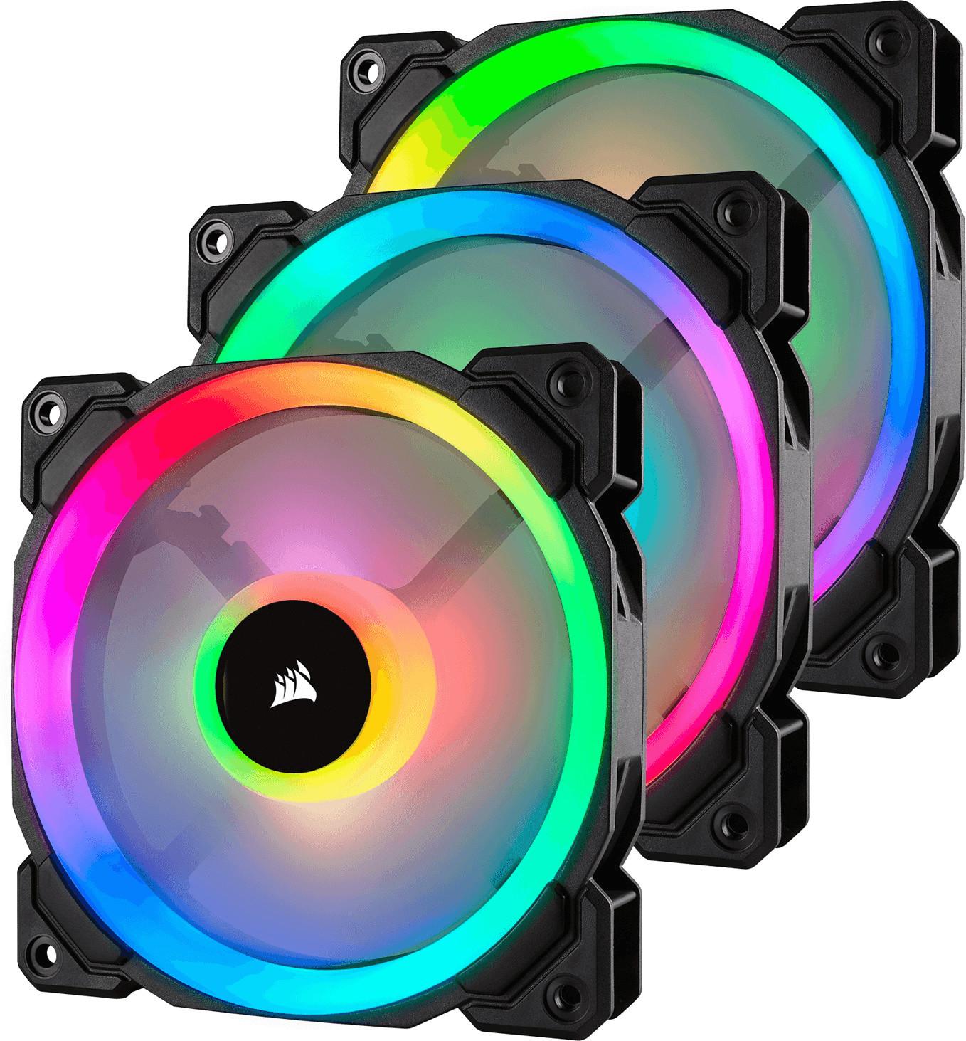 Lot de 3 ventilateurs PC Corsair LL120 RGB - 120 mm