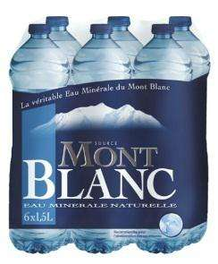 2 Packs de 6 bouteilles d'eau minérale Mont Blanc - 2x6x1.5L