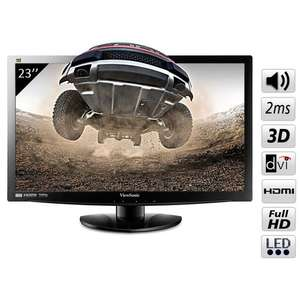 Ecran plat Viewsonic LED 23'' - FULL HD 3D - 2 ms - VGA/DVI/HDMI