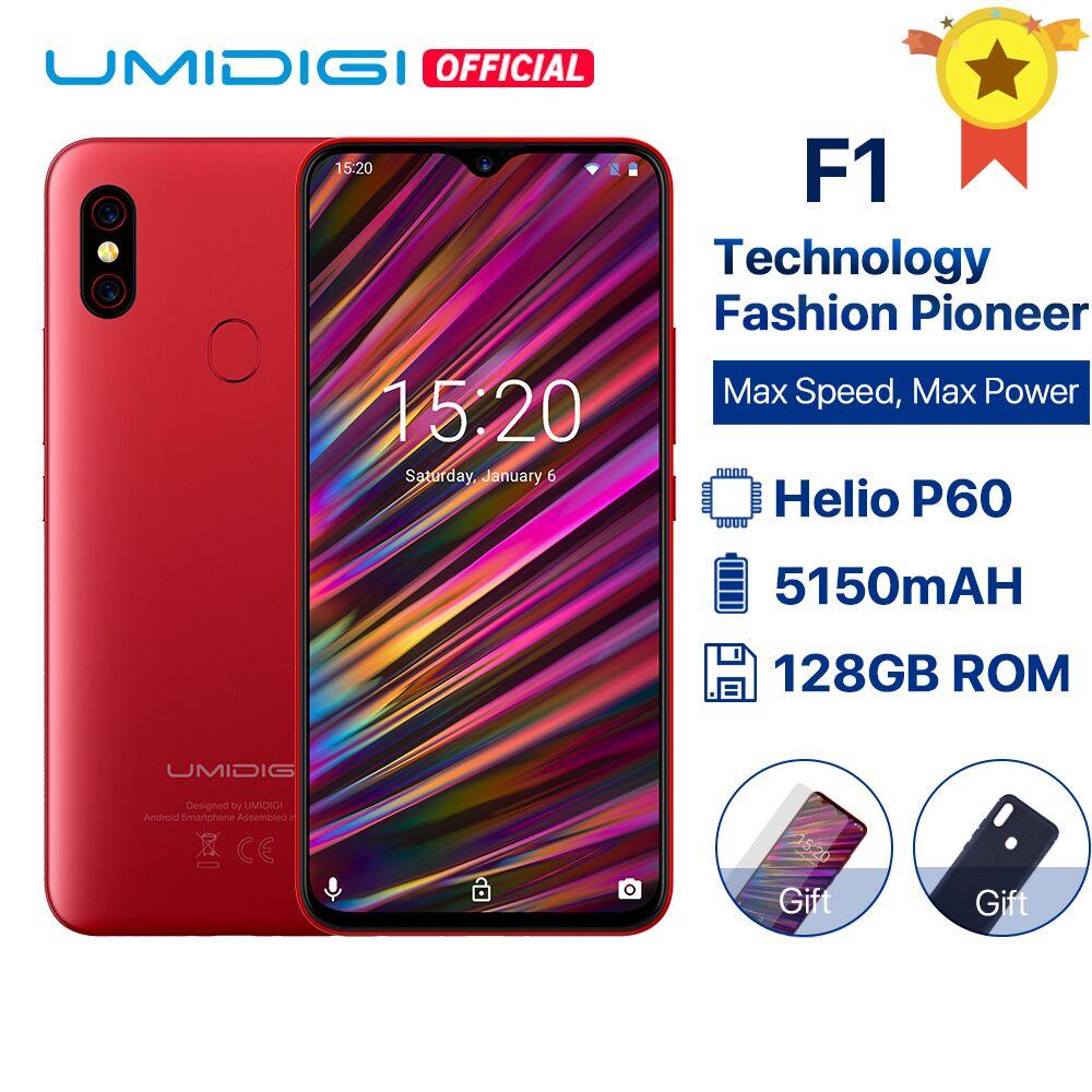 """Smartphone 6.3"""" Umidigi F1 - full HD+, Helio P60, 4 Go de RAM, 128 Go"""