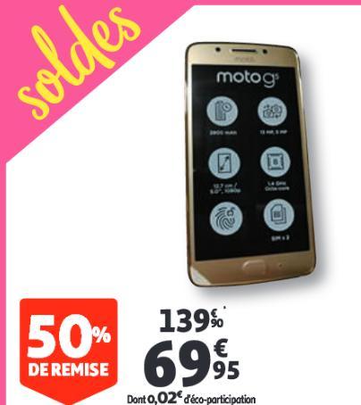 "Smartphone 5"" Motorola Moto G5, 16Go - Mâcon (71)"