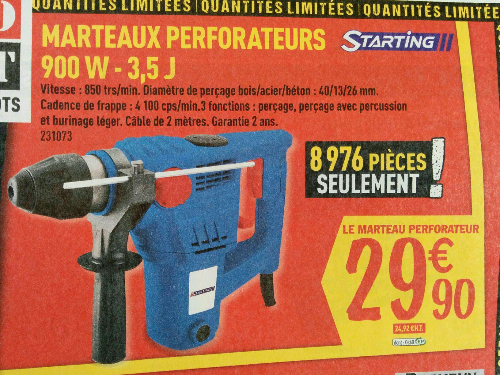 Marteaux perforateurs 900w - 3,5J
