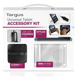 Kit accessoires Targus tablettes universels (Stylet + support + allume cigare + tampon nettoyage)