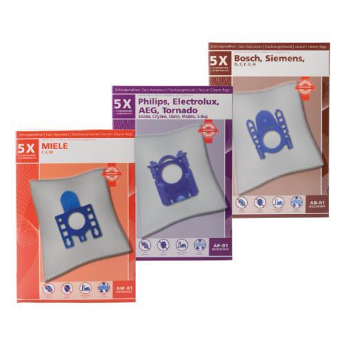 5 Sacs d'aspirateur microfibre + 2 filtres