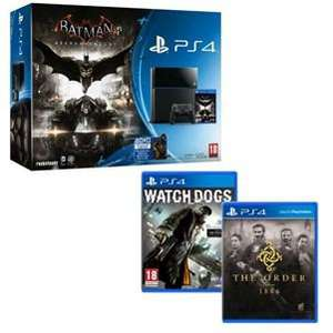 Pack Console Sony PS4 500 Go Noire + Batman Arkham Knight + Watch Dogs + The Order 1886
