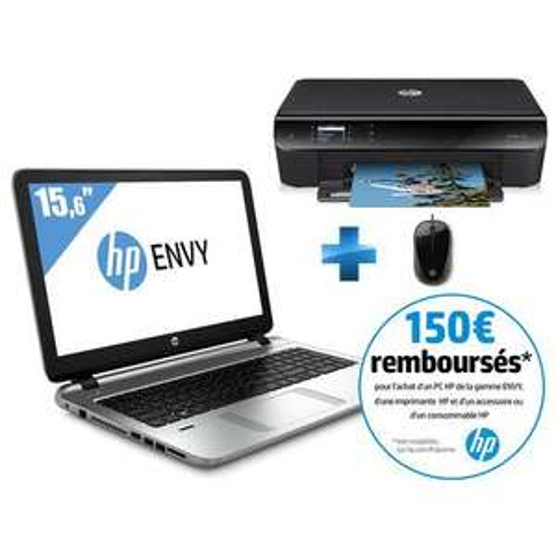 "PC portable 15.6"" HP Envy 15-K222NF  Full HD (i5-5200U + Imprimante HP Envy 4503 + Souris filaire) (ODR 150€)"