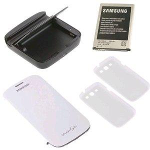 Packs Samsung Galaxy S3 Bat + Dock + coque + flipCover