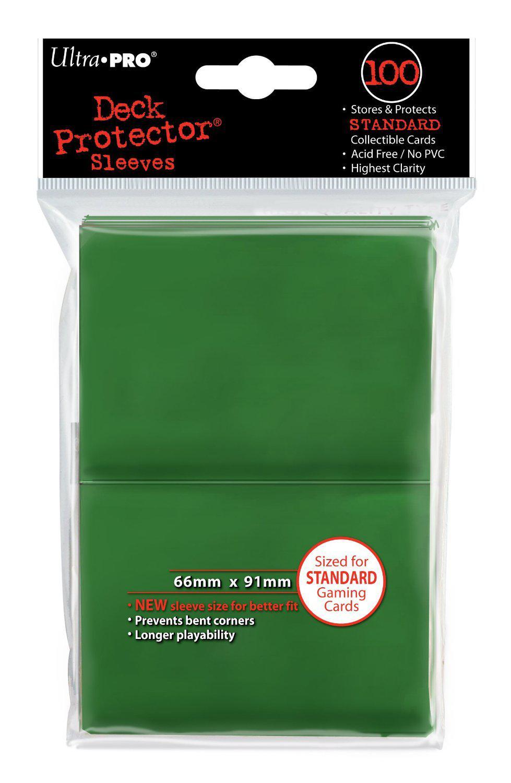 [Panier plus] Ultra Pro - Housse De Protection - Green Solid - 100 Pièces