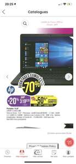PC Portable Hp 15-da00110nf (via 249.51e sur la carte) - Lannion (22)