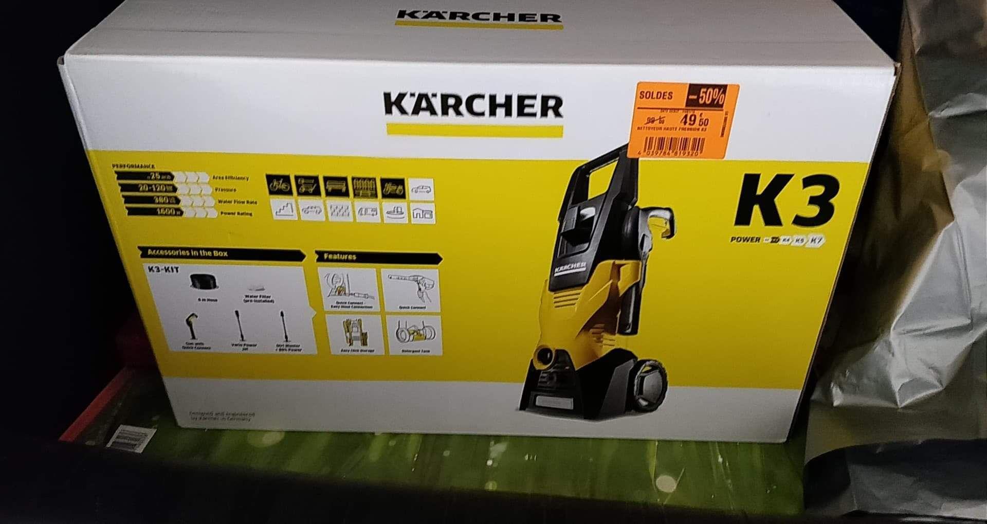 Nettoyeur haute pression Karcher K3 - Carrefour Market La Souterraine