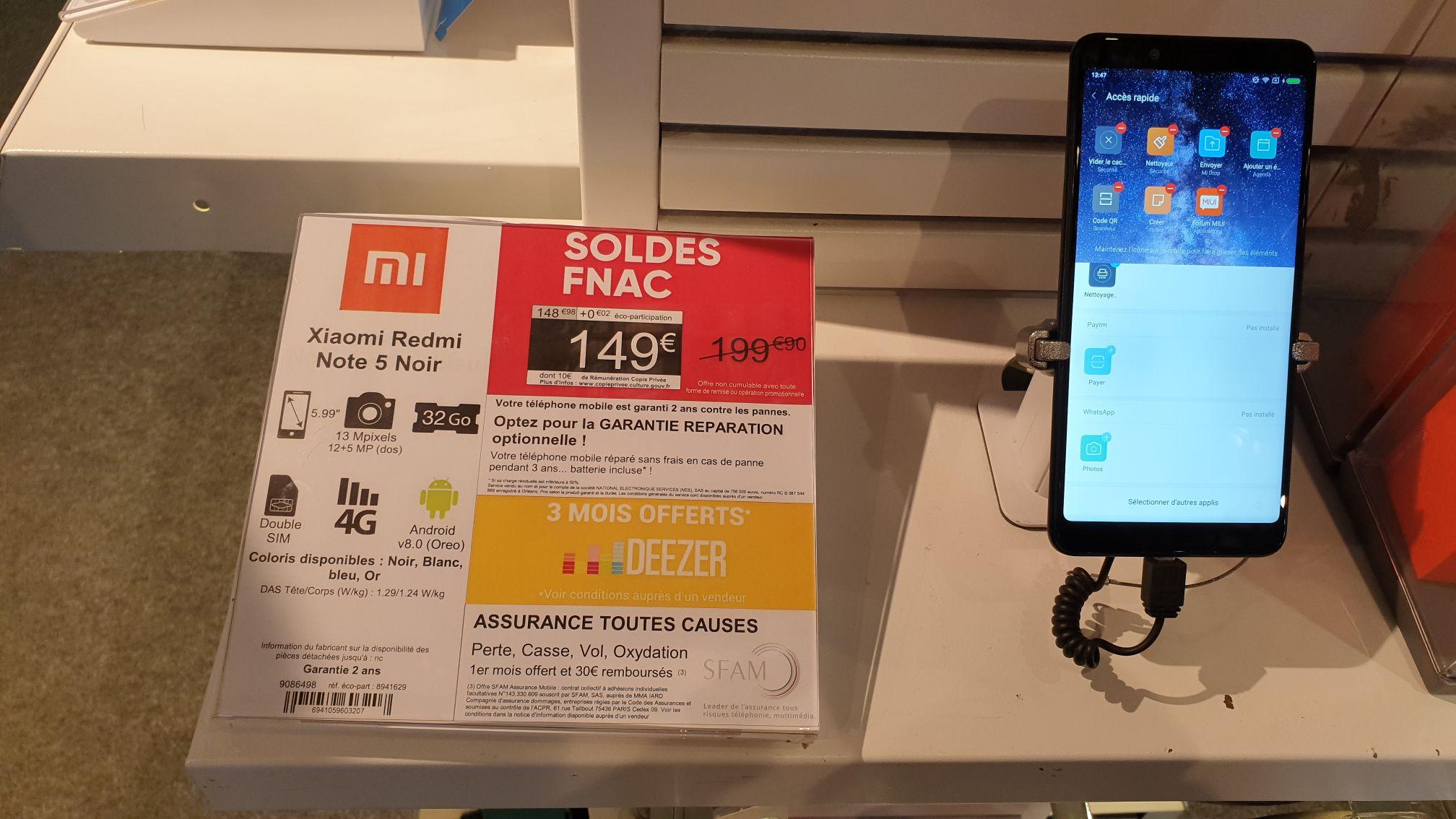 "Smartphone 5.99"" Xiaomi Redmi Note 5 - full HD+, 3 Go de RAM, 32 Go  - Boulogne Billancourt 92)"