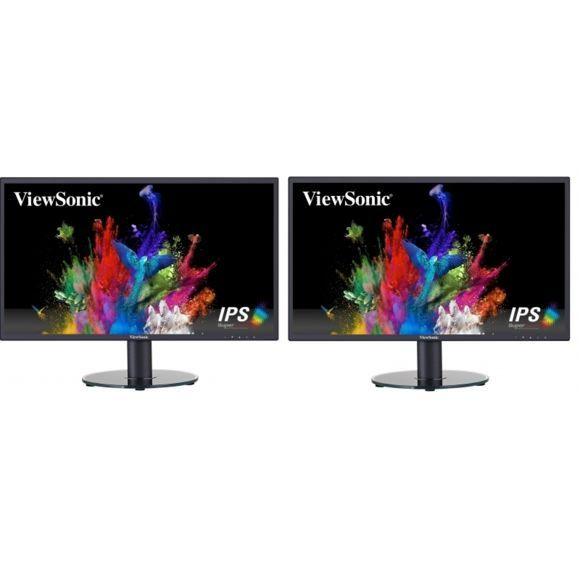 """Lot de 2 écrans 24"""" Viewsonic VA2419-SH - Full HD, IPS"""