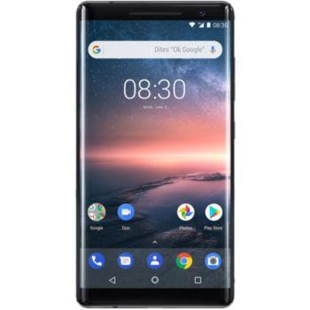 "Smartphone 5.5"" Nokia 8 Sirocco - QHD, SnapDragon 835, 6 Go de RAM, 128 Go, noir"