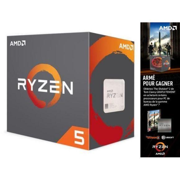 Processeur AMD Ryzen 5 2600 + The Division 2 sur PC