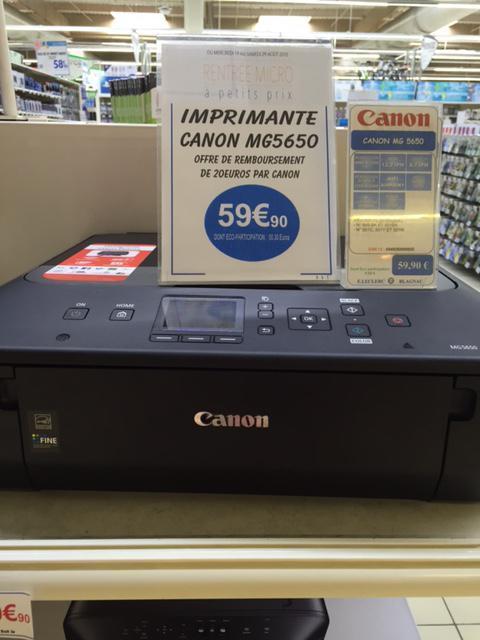 Imprimante multifonction Canon Pixma MG 5650 noire (ODR 20€)