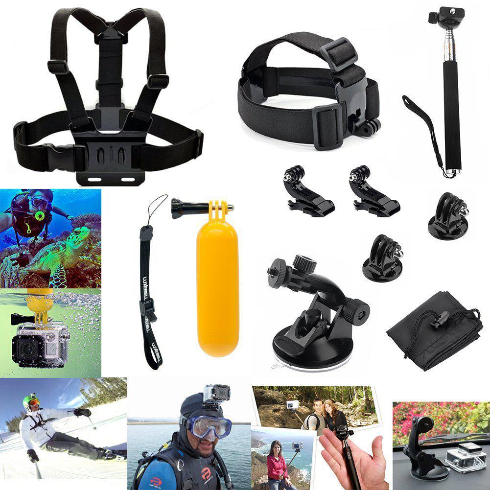 Kit de 8 accessoires Luxebell pour GoPro Hero 4, Hero 3+, Hero 3, Hero 2, SJ4000, SJ5000