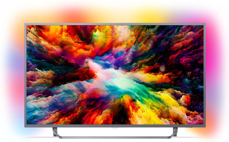 "TV 65"" Philips 65PUS7303 - 4K UHD, LED, Smart TV Ambilight 3 côtés"