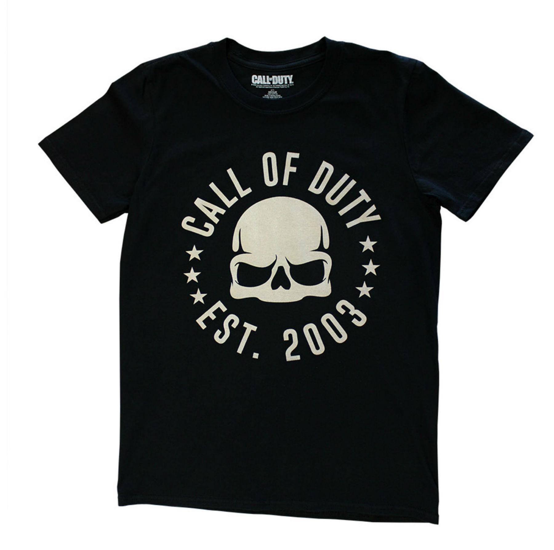 Sélection de produits officiels PlayStation en Soldes - Ex : tee-shirt Call of Duty Est. 2003 (tailles M ou L)