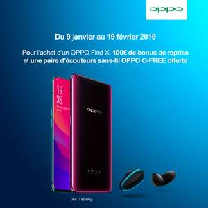 """Smartphone 6.4"""" Oppo Find X - 256Go + Ecouteurs oppo O-free"""