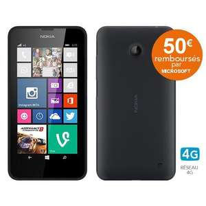 "Smartphone 4,5"" Microsoft Lumia 635 - 4G (ODR 50€ + 25€ d'applications offertes)"
