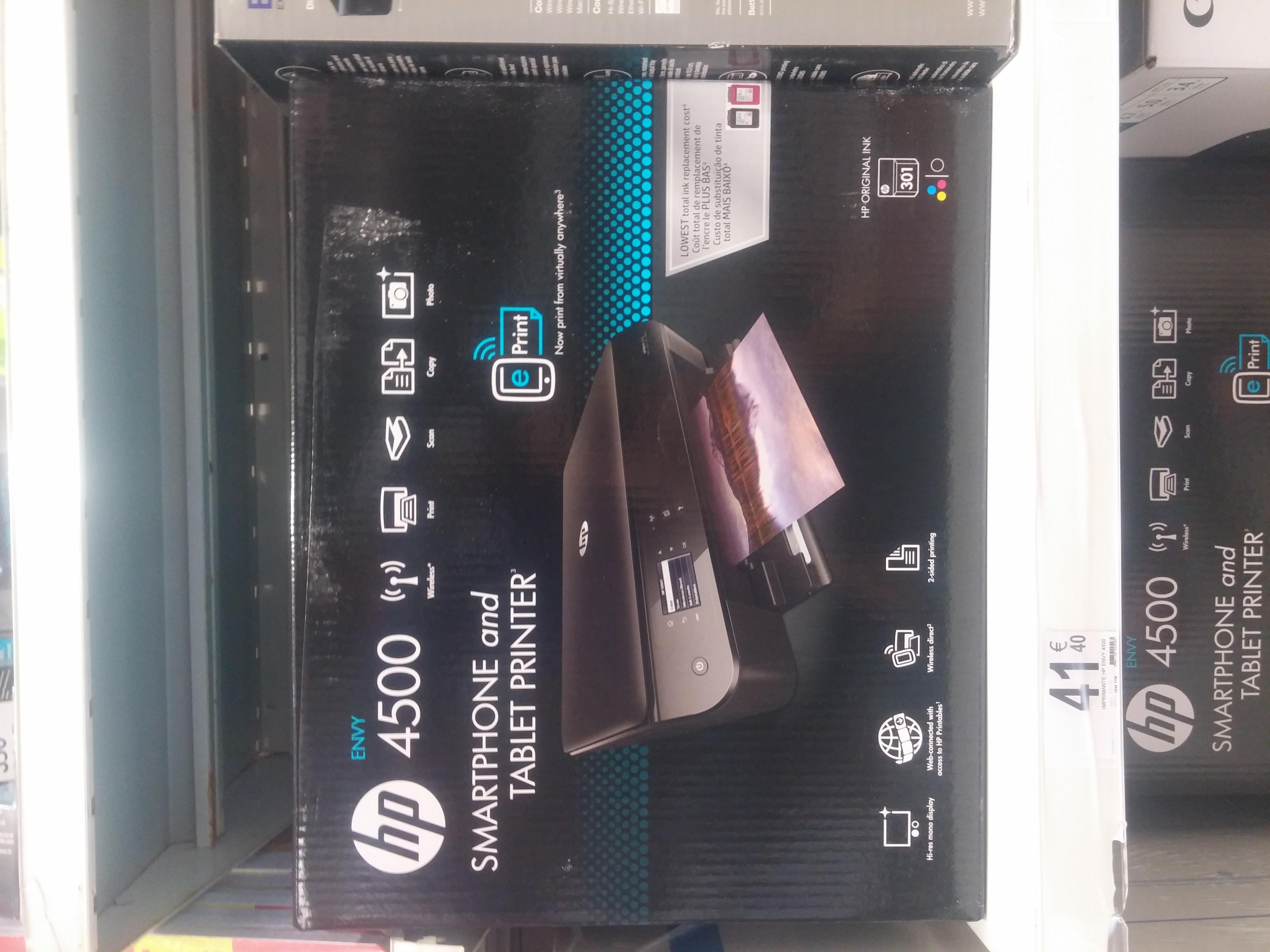 Imprimante multifonction Wi-Fi recto/verso HP Envy 4500 -