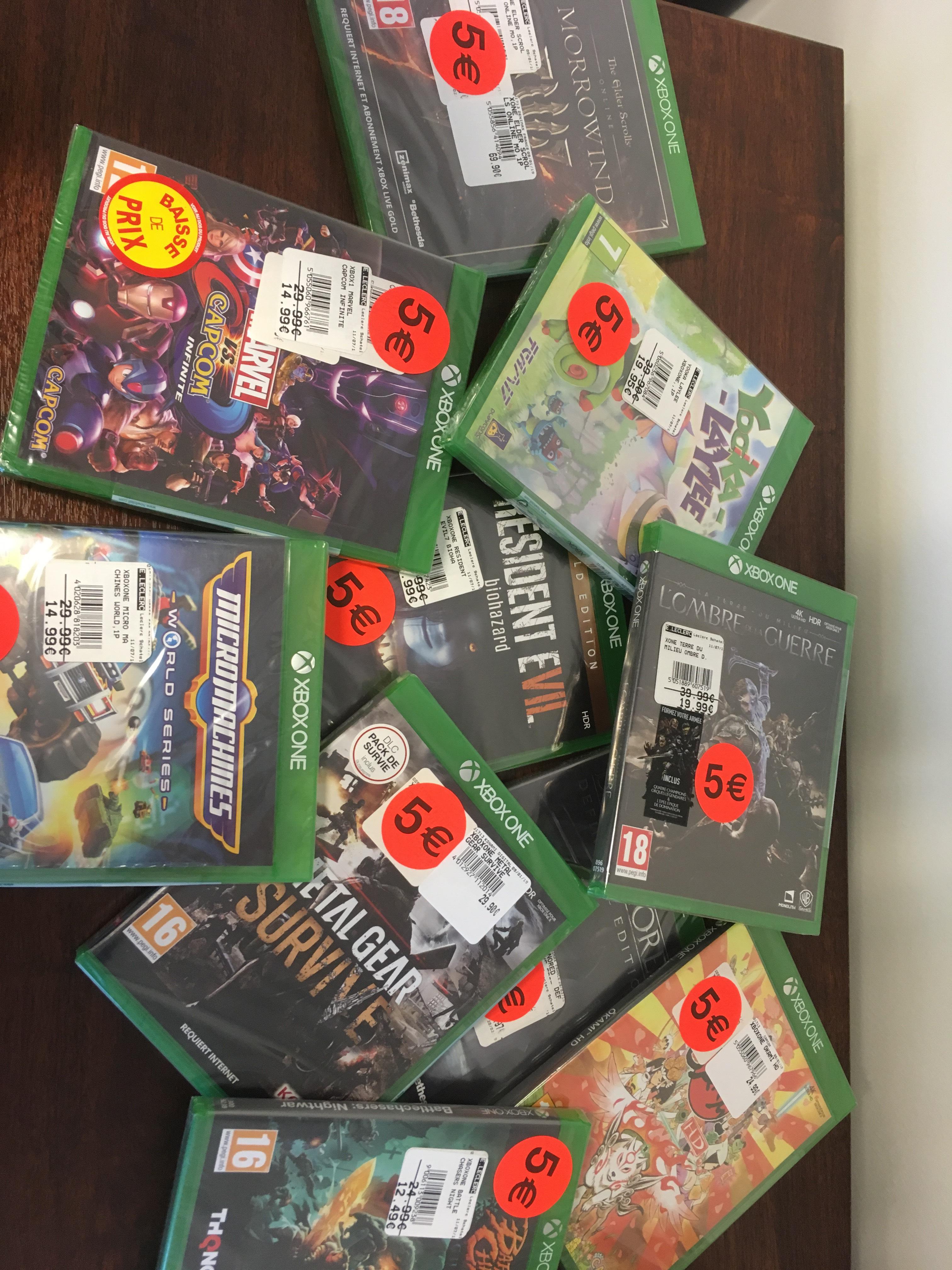 Sélection de jeux Xbox one à 5€ - Neufchâtel-en-Bray (76)