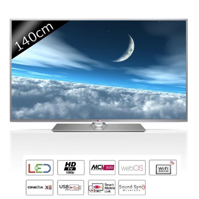 "TV 55"" LG 55LB650V Smart TV - Full HD"