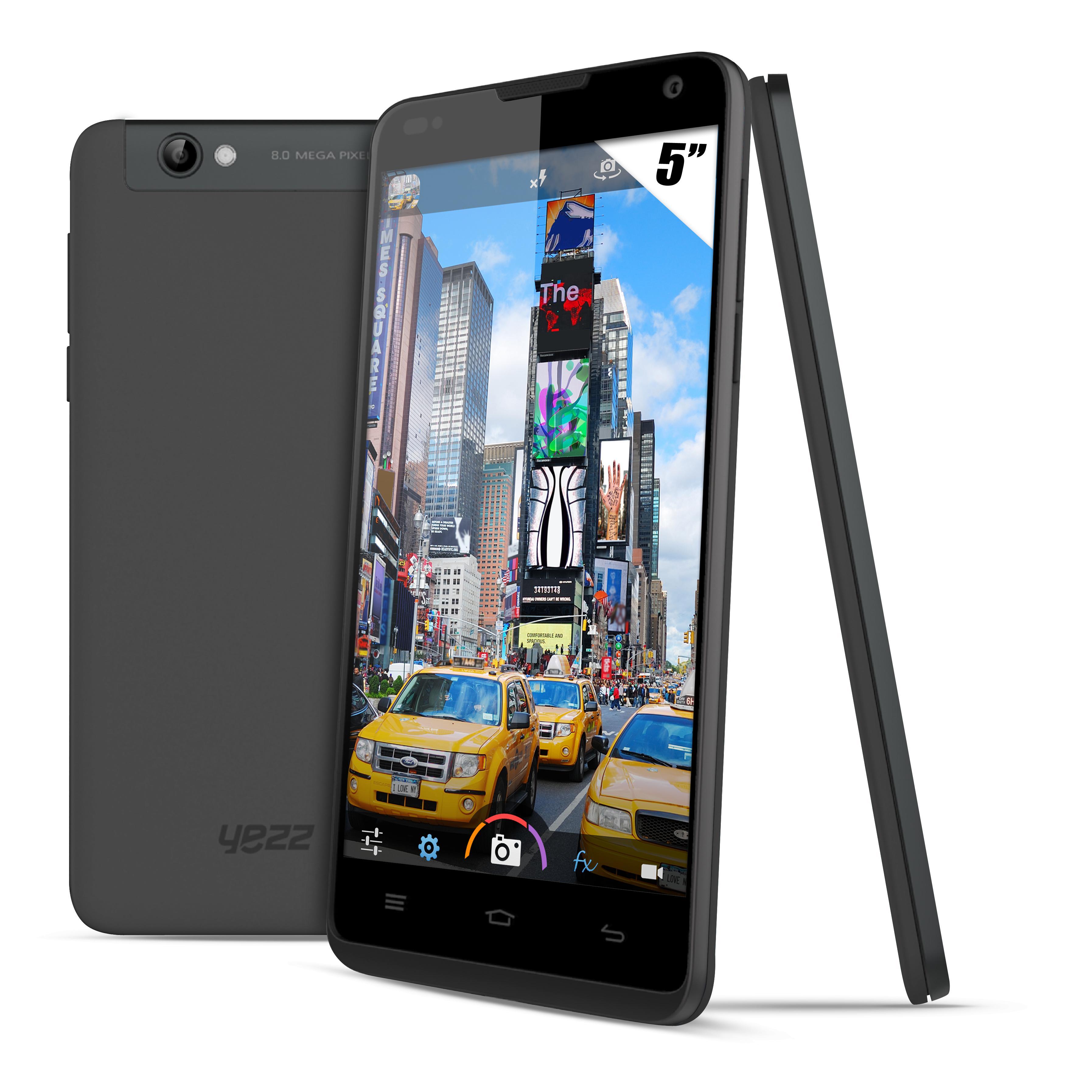 "Smartphone 5"" Yezz A5T Dual SIM  (Cortex-A7 Quad-Core, 1 Go de Ram)"