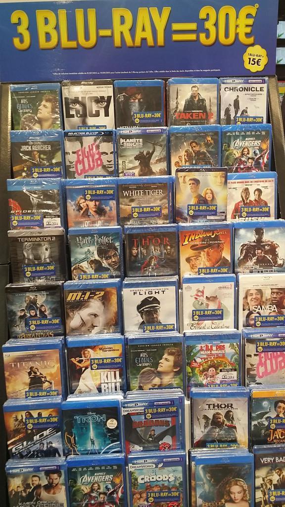 3 Blu-ray (Avengers, Fight Club, Titanic...)