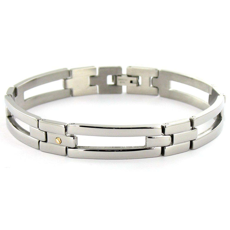 Bracelet homme en acier Tous mes bijoux BRAI01004 - 21.5 cm