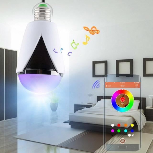 Ampoule 2 en 1 : Enceinte sans fil bluetooth & Ampoule connectée LED  H-1007