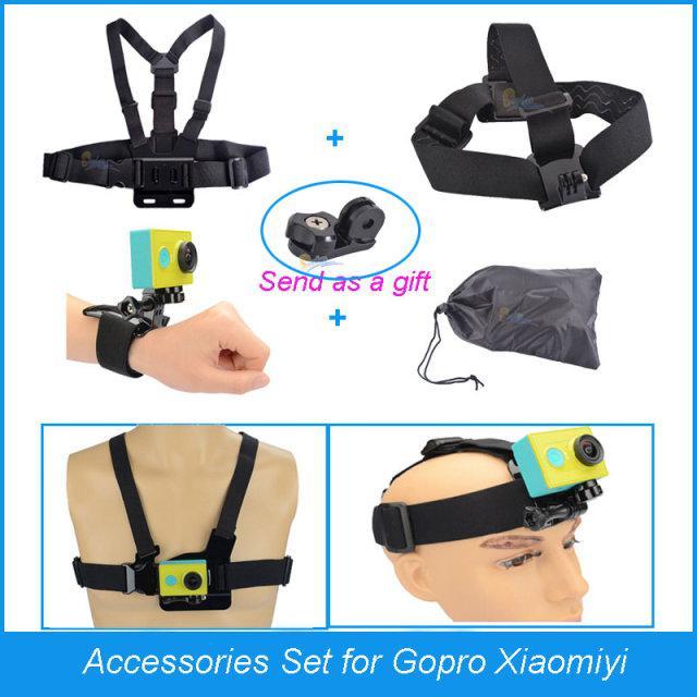 Pack de 5 accessoires pour caméras Gopro / SJ / Xiaomi