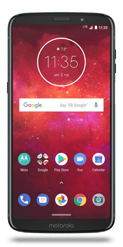 "Smartphone 6"" Motorola Moto Z3 Play - 64 Go, 4Go de RAM"