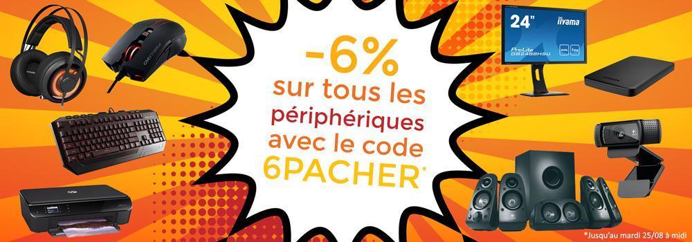 -6% sur les périphériques