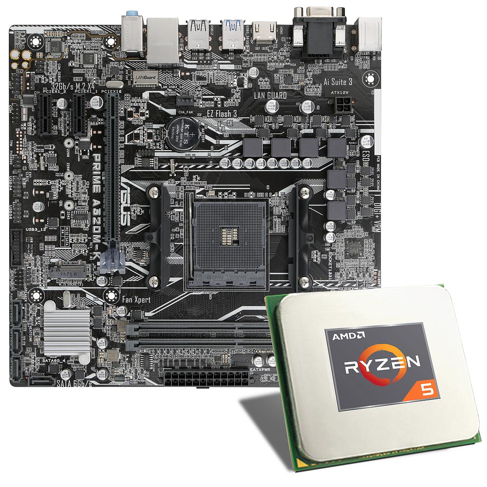 Processeur AMD Ryzen 5 2600  + carte mère Asus Prime A320M-K (csl-computer.com)