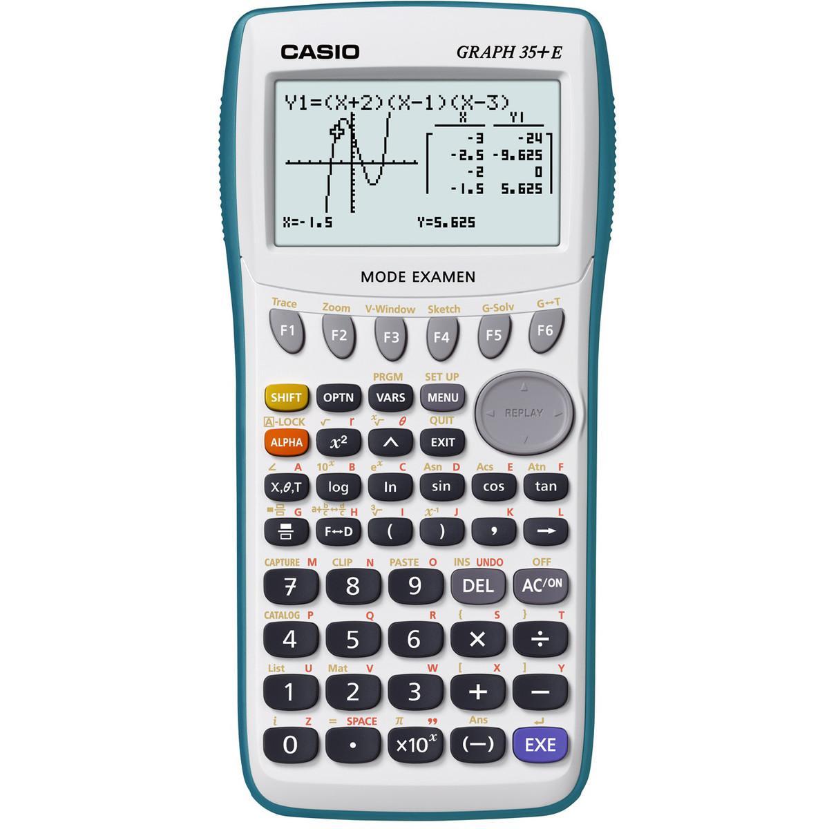 Calculatrice graphique Casio Graph 35+ - Blanc