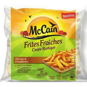 Frites fraîches Mc Cain - Classique ou Rustique - 450g (via BDR de 0.50€)