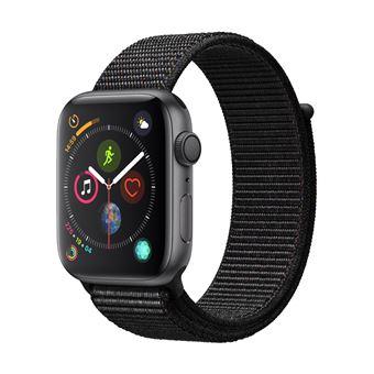 Montre connectée Apple Watch Series 4 GPS - 44 mm, avec bracelet en nylon Sport, noir (vendeur tiers)
